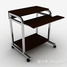 棕色写字书桌3d模型下载