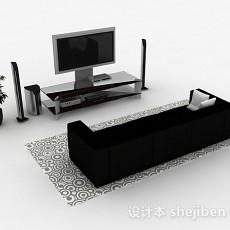 家居电视机3d模型下载