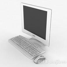 白色台式电脑3d模型下载
