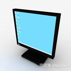 黑色电脑显示器3d模型下载