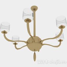 现代风格客厅烛台灯3d模型下载