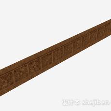 现代风格棕色花纹踢脚线3d模型下载