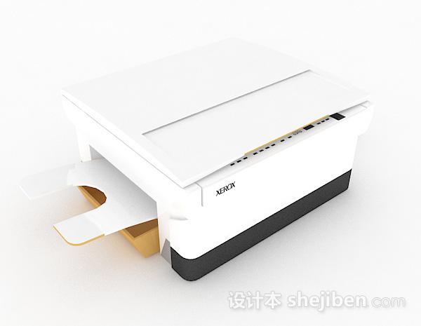 白色小型打印机