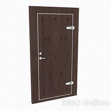 棕色木门3d模型下载