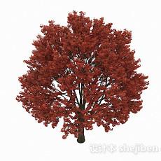 红色大树3d模型下载