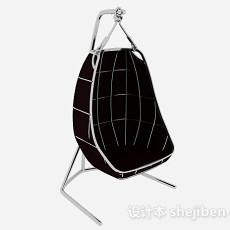 黑色简约吊椅3d模型下载