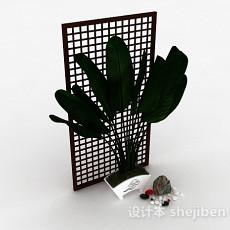 绿色室内盆栽3d模型下载