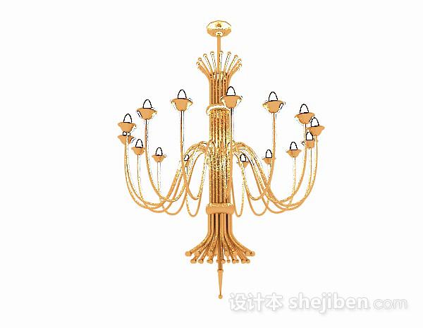 欧式金属水晶吊灯