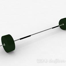 军绿色杠铃3d模型下载