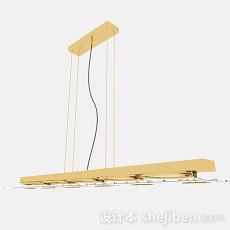 暖黄色金属吊灯3d模型下载