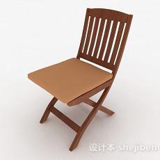 木质棕色单人椅3d模型下载