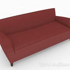 红色双人沙发3d模型下载