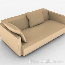 黄色双人沙发3d模型下载