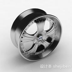 银色轮胎3d模型下载