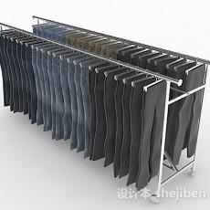 商城衣服展示架3d模型下载