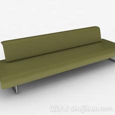 绿色简约多人沙发3d模型下载