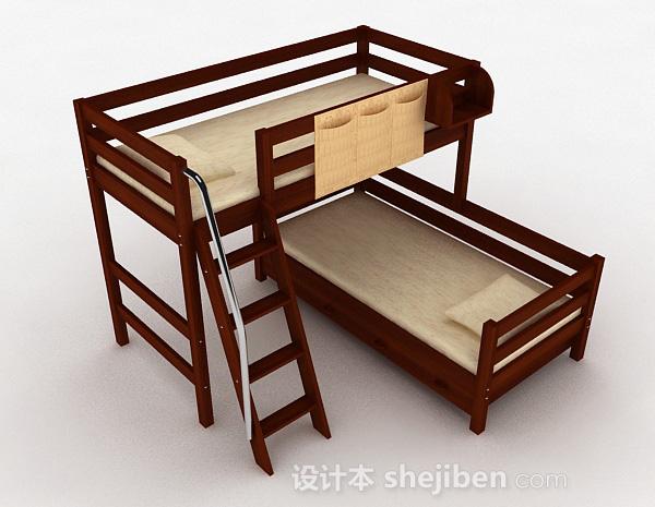 上下层木质组合单人床