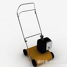 现代风暖黄色割草机3d模型下载