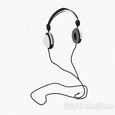 头戴式耳机3d模型下载