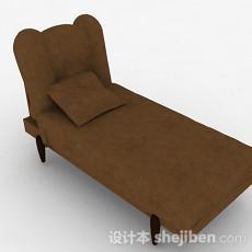 现代风棕色单人沙发3d模型下载