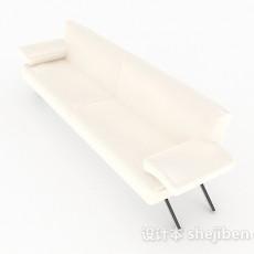 白色多人沙发3d模型下载