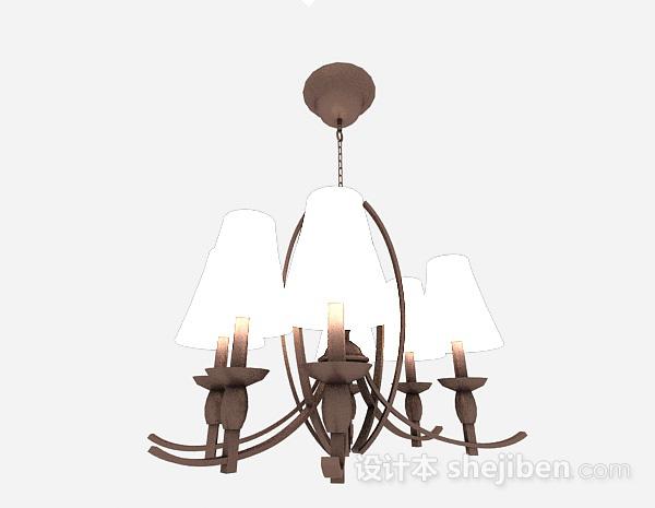 现代风格棕色金属吊灯