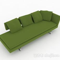 绿色多人沙发3d模型下载