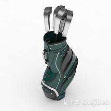 高尔夫球杆3d模型下载