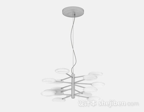 现代风格白色金属吊灯
