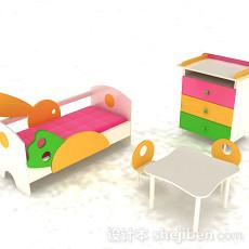 多彩组合儿童床3d模型下载