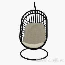 黑色镂空吊椅3d模型下载