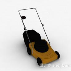 黑黄双色家用除草机3d模型下载