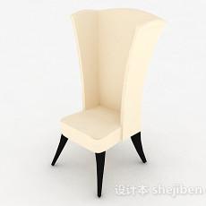现代风白色时尚家居椅3d模型下载
