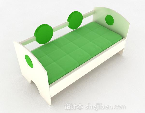 嫩绿色单层儿童床