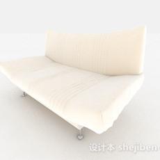 白色双人沙发3d模型下载