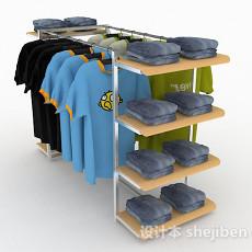 多功能商城衣服展示架3d模型下载