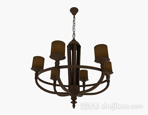 欧式风格金属吊灯