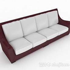 简约多人沙发3d模型下载