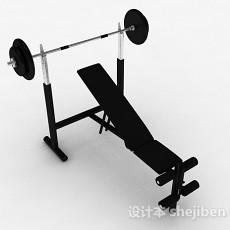 黑色举重器3d模型下载