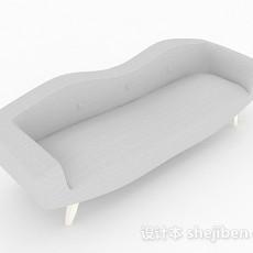 灰色双人沙发3d模型下载