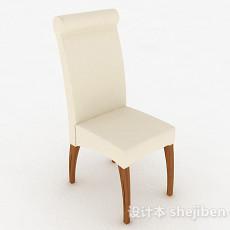 白色软垫家居椅3d模型下载