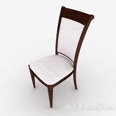 棕色风格现代家居木椅3d模型下载