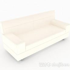 现代风白色沙发3d模型下载