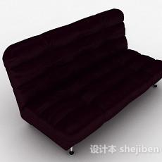 深紫色双人沙发3d模型下载
