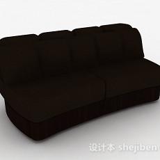 棕色简约双人沙发3d模型下载