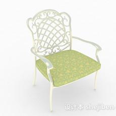 欧式简约白色家具单人扶手椅3d模型下载