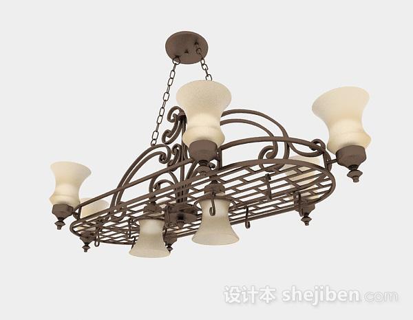 欧式风格金属镂空造型吊灯