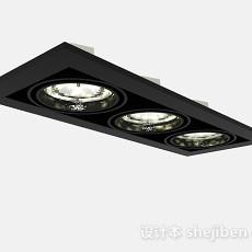现代风格黑色吸顶灯3d模型下载