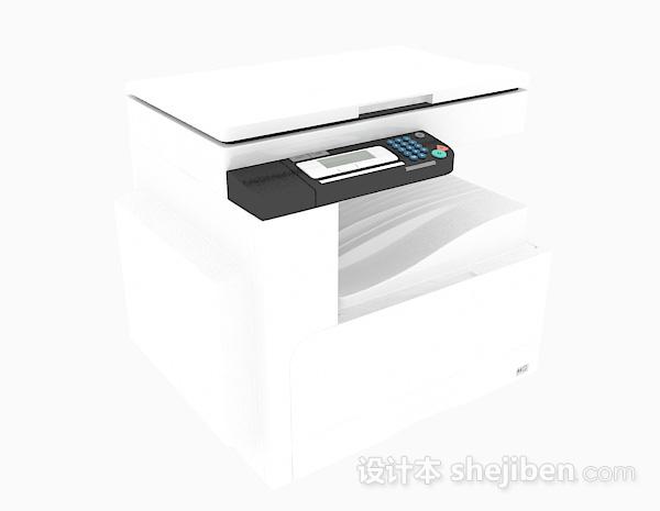 白色小型复印件3d模型下载