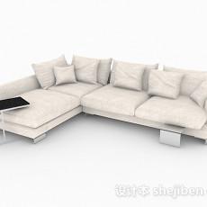 浅棕色多人沙发3d模型下载